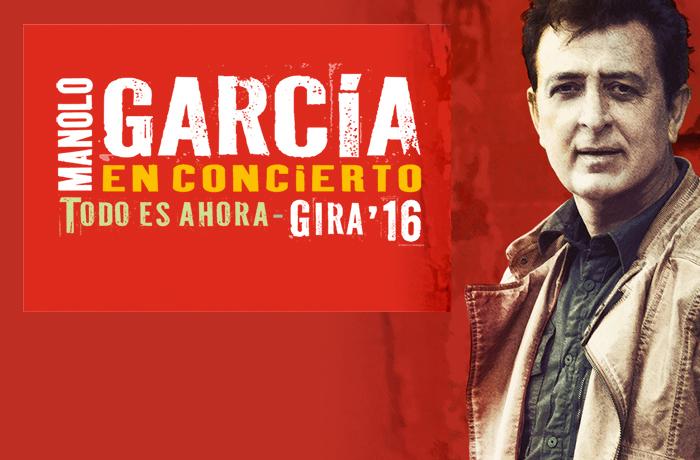 Manolo García sale de gira para presentar 'Todo es ahora' comprar ya tus entradas en taquillamediaset.es