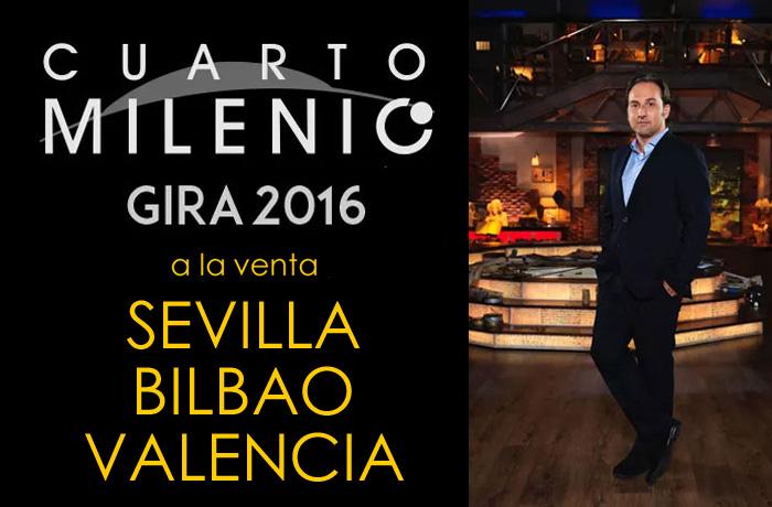 Ya puedes comprar las entradas para la gira de cuarto milenio e iker jimenez cómodamente desde casa para Sevilla, Bilbao y Valencia