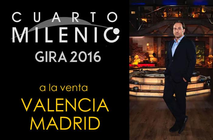 Ya puedes comprar las entradas para la gira de cuarto milenio e iker jimenez cómodamente desde casa para Valencia y Madrid