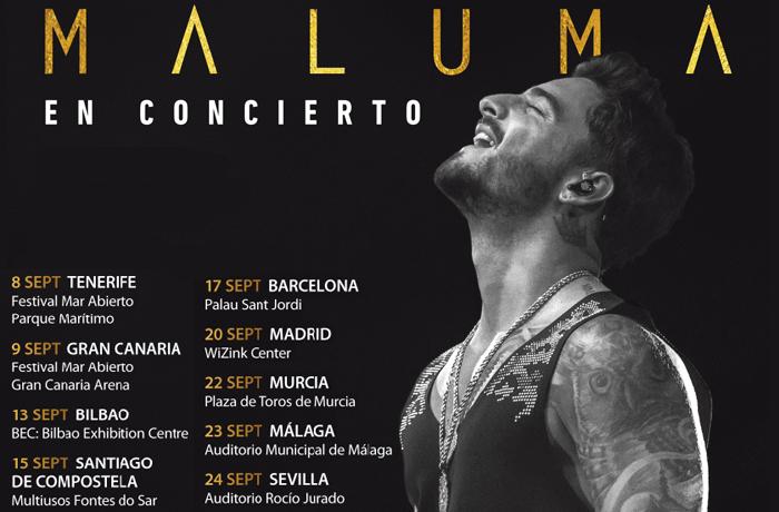 Los conciertos de Maluma en España